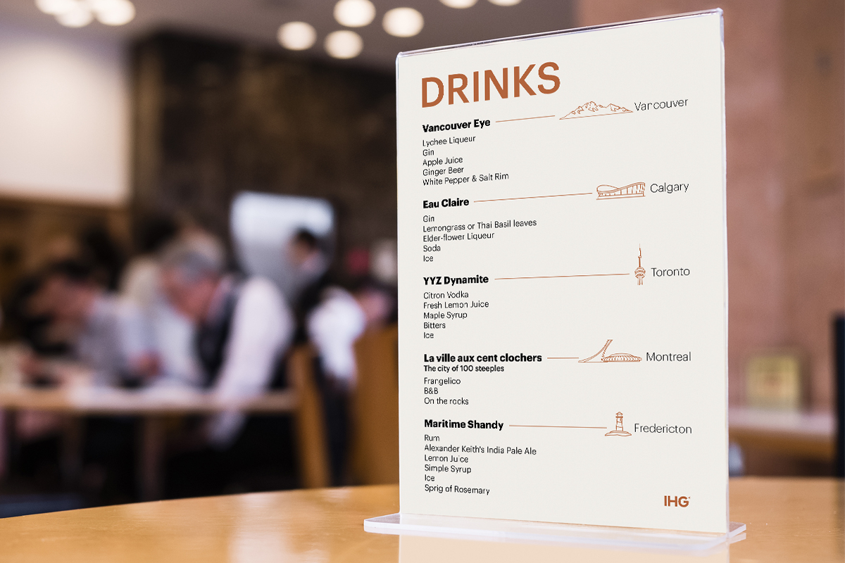 Mock up Menu on Table Bar Restaurant Cafe